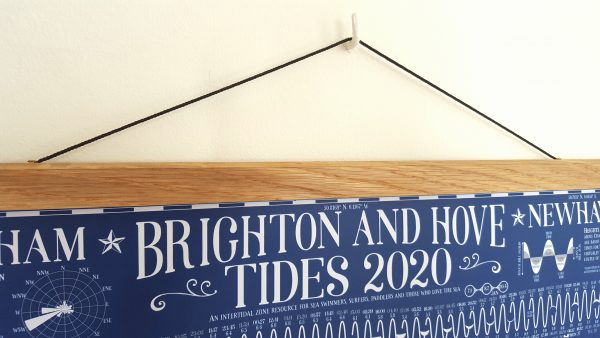 poster hanger with tide chart