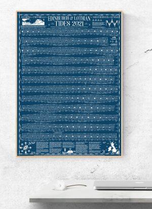 2021 Edinburgh Portobello Tide Wall Chart