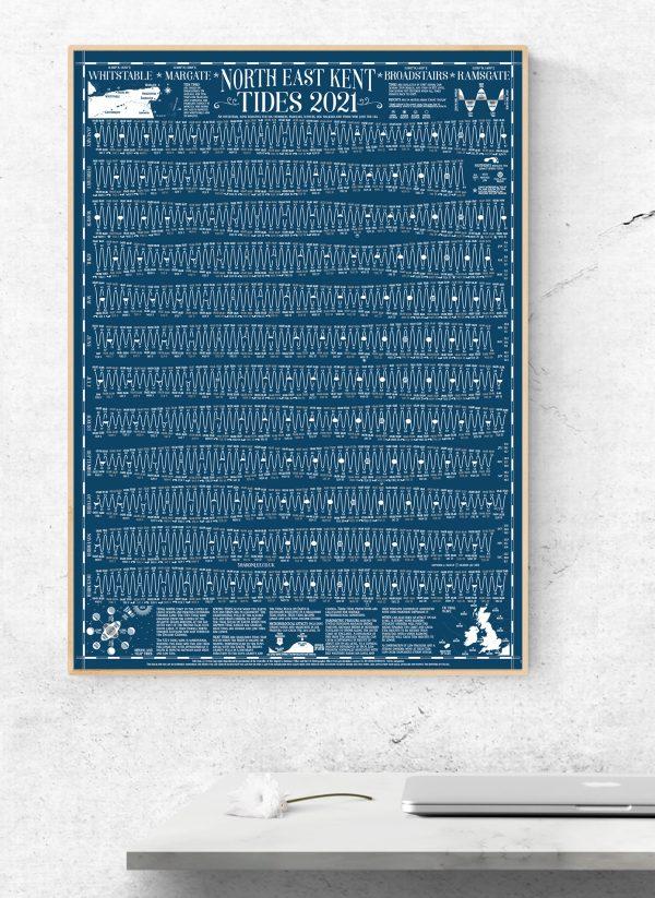 2021 Kent Tide Wall Chart