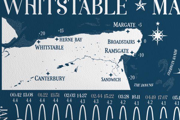 Map Kent 2021 Tide Chart