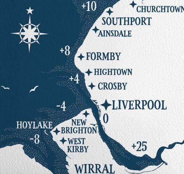 Merseyside Tide Wall Poster
