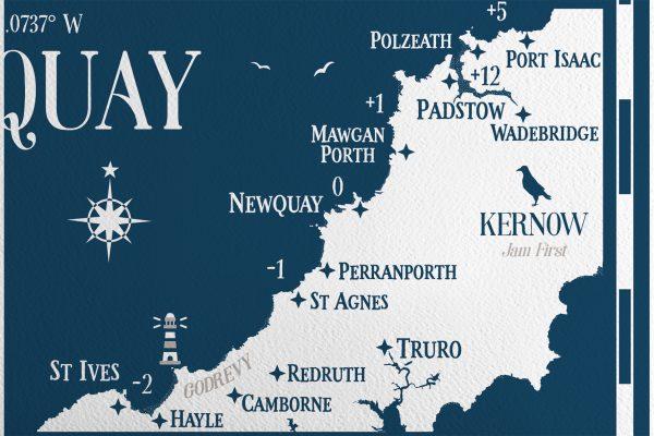 2021 Newquay Cornwall Map