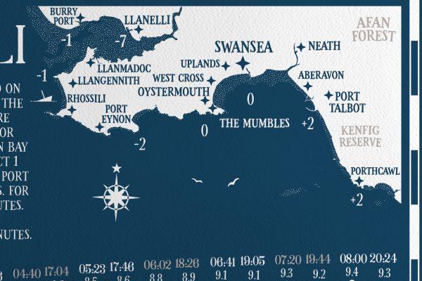 Map Swansea Gower Tide Locations