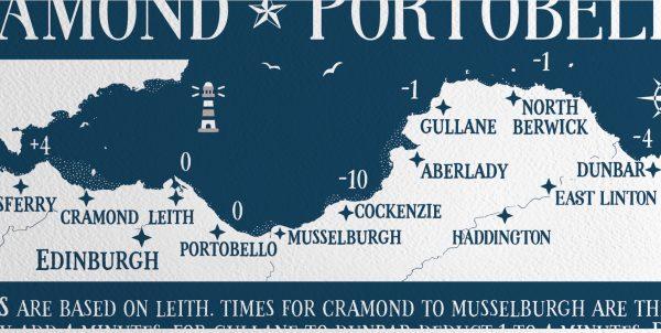 Edinburgh Tide Chart Map
