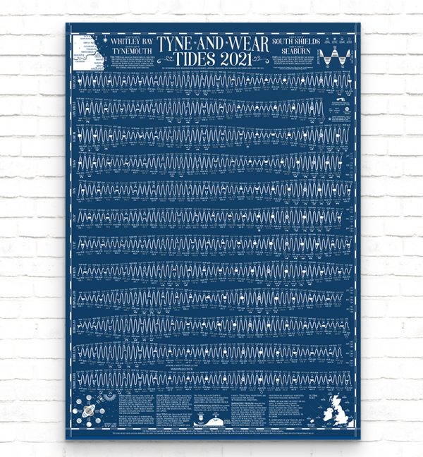 2021 Tyne and Wear Tide Wall Chart