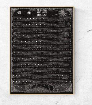 Brighton tide chart Black