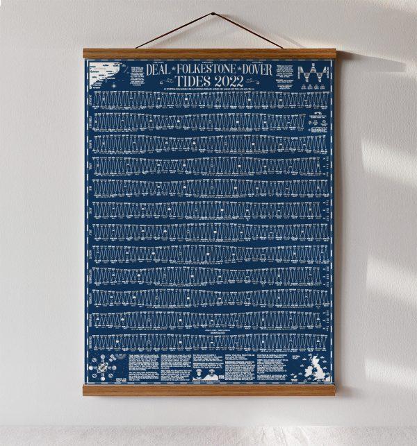 tide wall chart Kent folkestone