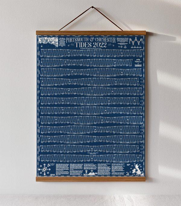 Oak Wooden School Poster Hanger Tide Chart