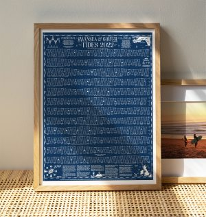 Tide Times Wall Chart Swansea and Gower 2022