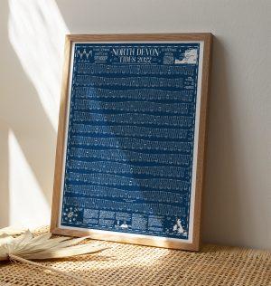 Tide Times North Devon Wall Chart